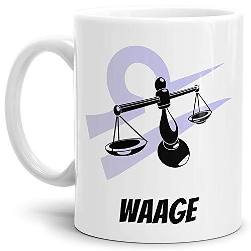 Tasse mit Design Sternzeichen Waage Kaffeetasse/Mug/Cup / - Qaulität Made in Germany