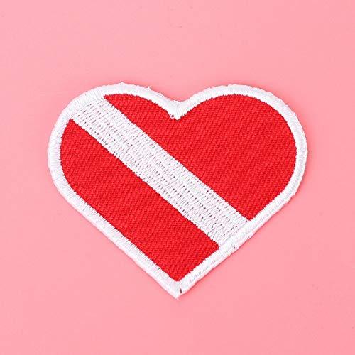 MOH Insignia de Buceo Parche Bordado de Buceo en Forma de corazón Insignia de Buceo Chaleco Bolsa Parches de Gorra