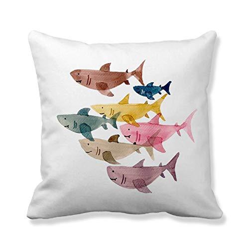 Cojín de cojín y funda para sofá de peces coloridos de N/ A