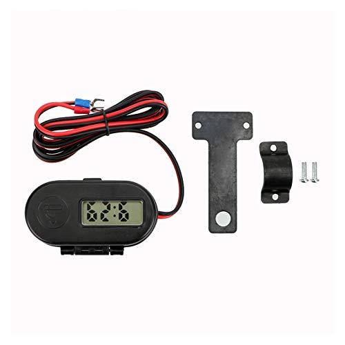 ZHIXIANG Mit Digital-Uhr-Auto-Motorrad-USB-Adapter Ladegerät Sockel Kit 12V 24V Zigarettenanzünder Dual USB Motorrad-Ladegerät