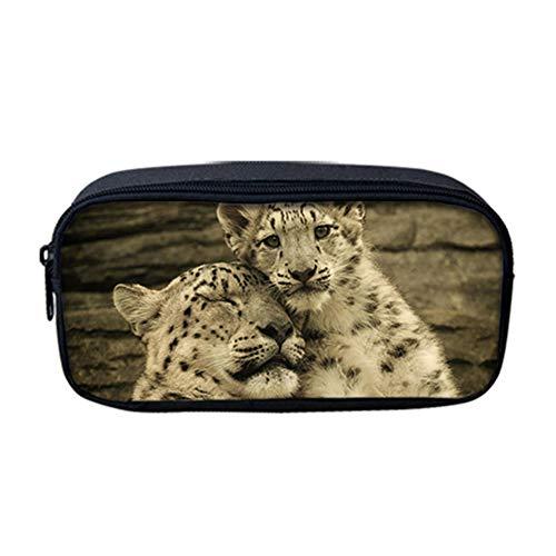 fhdc Rugzak Luipaard Patroon 3D Animal School Tassen Vrouwen Kinderen 3 Stks/Set Rugzakken Voedsel Tas Potlood Cases Kids Jongens Satchel