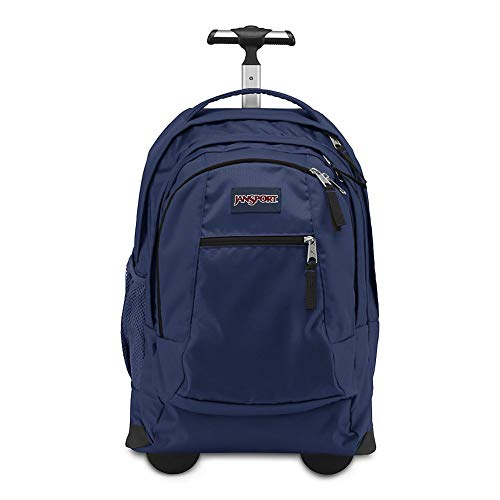 JanSport, Driver 8 - Wheeled Backpack, (NVY) Navy, One Size