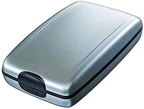 Tarjetero de aluminio para tarjetas de crédito, RFID, seguro de entrada y pagos, monedero de seguridad delgado, ligero, bloqueo RFID, plata (Plateado) - ZSADZS-GX8GXM