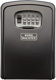Burg-WÄCHTER Key Safe with Combination Lock, Key Safe 40 SB, Steel, Black