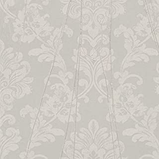 Décor Direct YW63333 Wallpaper Double Roll Dimensions: 29.53 in. x 33 ft. = 81.2 sq. ft. Gray/Brown/Off