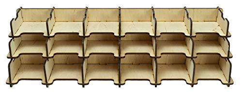 docsmagic.de Card Holder - 18-Compartment 1500+ Standard Cards - Kartenhalter