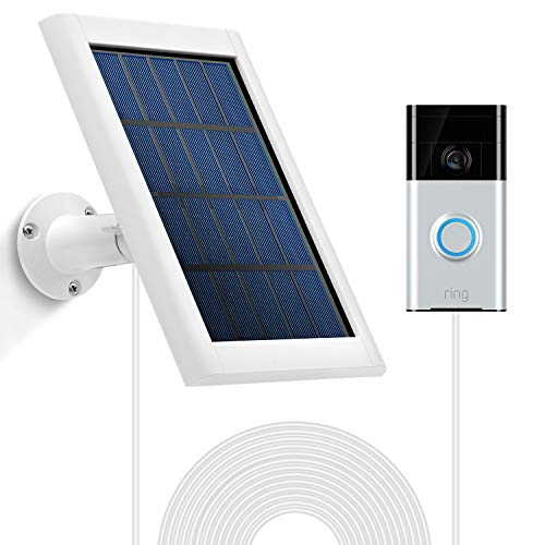 OLAIKE Solar Panel for All-New Video Doorbell 2020 Release 2nd Gen& 1st, Weatherproof Continuous Charging for Maximum Efficiency,5V/3.5W (Max) Output,3.8M/12ft Power Cable(No Include Camera),White