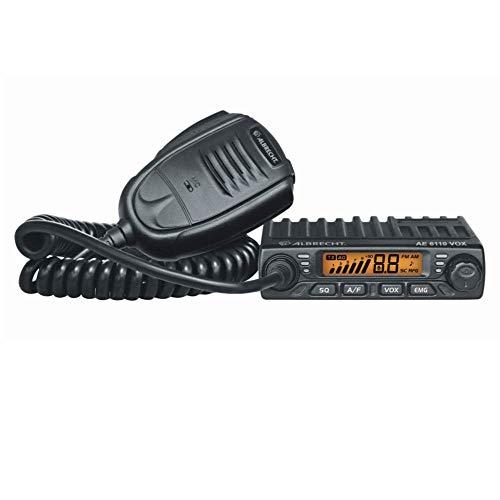 Albrecht AE 6110 VOX CB-Funkgerät, 12614, 4 Watt AM/FM, mit integrierter VOX-Funktion zum freihändigem Sprechen im Fahrzeug inkl. Zigarettenanzünder