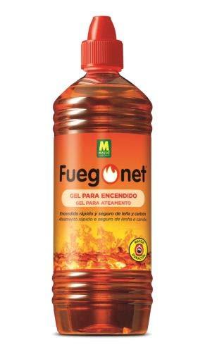 Fuegonet 231448 Gel para Encendido, Marrón, 8x8x27 cm