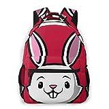 DJNGN Regalo Cute Kids Bunny Hombres y Mujeres Estilo Casual Mochila de Lona Mochila Escolar,