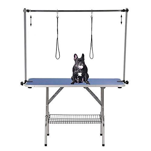 Midiao Pet Grooming Tisch, Heavy Duty Griffige Folding Einstellbare Höhe tragbare Hundepflege Werkbank mit Siebschale