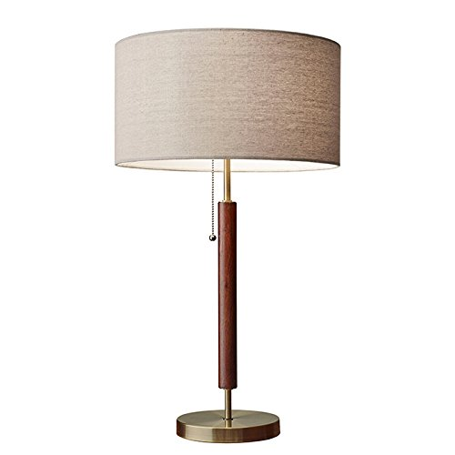 Adesso 3376-15 Hamilton Antique Design Table Lamp, Brass Finish, 26.25 x 15.00 x 15.30 inches