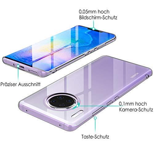 Beetop Huawei Mate 30 Pro Hülle Schutzhülle Ultradünn Handyhülle Transparent Weiche Silikon TPU Rückschale Case Cover Für Huawei Mate 30 Pro - Durchsichtig - 4