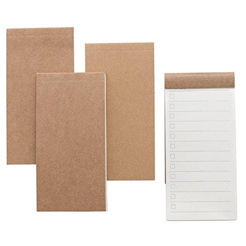 Craft Paper Note Pad To Do List Blocs de notas portátiles para Home Office 4 piezas (estilo aleatorio)