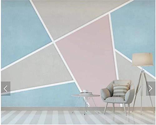 Simple Geometric Color Block Mosaic Sandstone Mural for Living Room Bedroom Sofa Background Decorativ 300(L) x200(H) cm