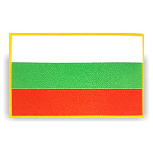 generisch 2 x Bulgarien Bulgaria Flagge Patch ca.8cm x 5cm Aufbügler Aufnäher mit Spezial-Klebstoff mühelosaufbügeln