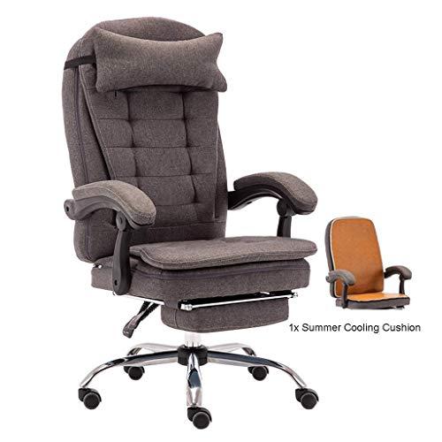 Jieer-C Ergonomische bureaustoel in Europese stijl, kristal, van aluminiumlegering, verstelbare poten voor het bureau, max. 150 kg.