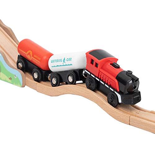 Eisenbahn Elektrische Lok Holzeisenbahn Zug Elektrische Hohe Geschwindigkeit Spielzeug Zug Kinder Lokomotive Kompatibel Mit Holzschienen Kinder Spielzeuglok Junge (keine Holzschiene)