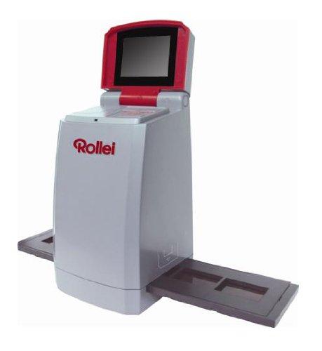 Rollei DF-S 110 Dia Filmscanner (5 Megapixel, 2,4 Farb TFT-LCD inkl. Schlitten für Farbnegative und Schlitten für Dias, TV Out, 3600 DPI) grau
