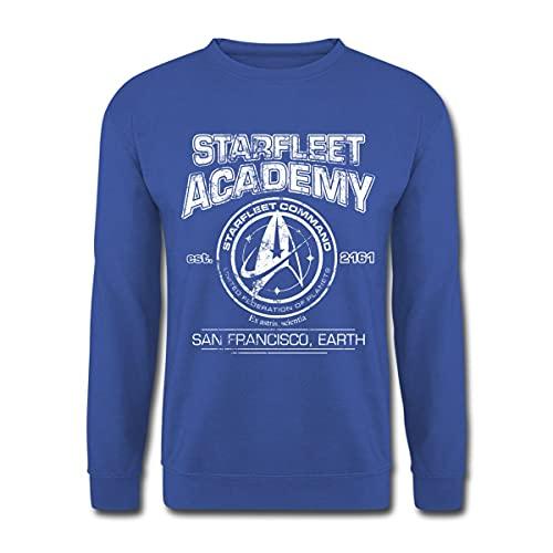 Spreadshirt Star Trek Discovery Starfleet Academy Unisex Pullover, M, Royalblau