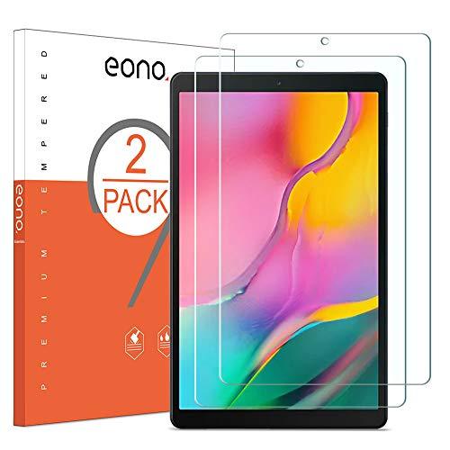 Amazon Brand - Eono [2 Piezas] Protector de Pantalla para Samsung Galaxy Tab A 10.1, Cristal Templado, Sin despegamiento, Sin Burbujas