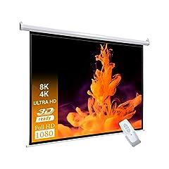 celexon Basic elektrische projector motorscherm optimaal voor home theater, presentatie, school en business incl. afstandsbediening - 200 x 113cm - 16:9*