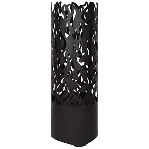 Esschert Design Feuersäule – Flammen aus Carbonstahl, Maße 39 x 39 x 118 cm