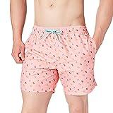 Springfield BAÑADOR Peach Polos Costume a Pantaloncino, Porpora/Lilla, S Uomo