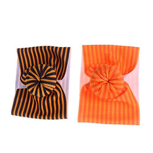 Amosfun 2 stks Polyester Baby Hoofddoek Geknoopt Turban Haarband Halloween Peuter Headdress, Size 1, Foto 3