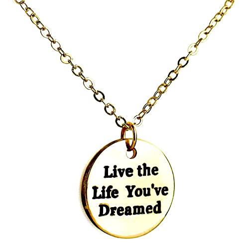 Collar Con Letras Collar Con Colgante Para Mujer Vive La Vida De Tus Sueños Joyas Europeas Y Americanas Hombres Y Mujeres Joyas Generales Regalos Colgantes