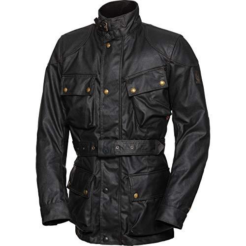 Belstaff Motorradjacke mit Protektoren Motorrad Jacke Trialmaster Pro Textiljacke schwarz L, Herren, Chopper/Cruiser, Ganzjährig, Baumwolle