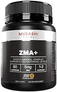 MUSASHI(ムサシ) ZMA+ アスリート ミネラルブレンド 60カプセル[海外直送品]