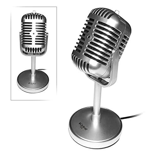 Micrófono retro Diseño clásico Vintage Retro condensador Micrófono...