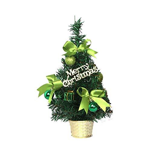 Fulltime® Décorations de Noël, 30cm Décorations d'arbre De Noël Bureau Table Festival Fête De Noël Cadeaux (Vert)