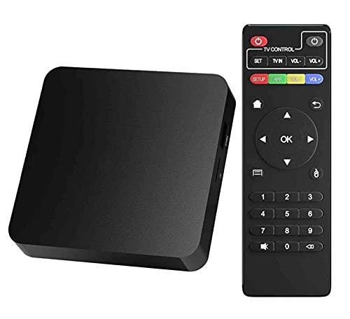 Decodificador, Actualización 2021 2GB RAM 16GB ROM Smart TV Box Android 10.0 H3 Soporte De Cuatro Núcleos WiFi/Ethernet 4K Reproductor Multimedia HDMI