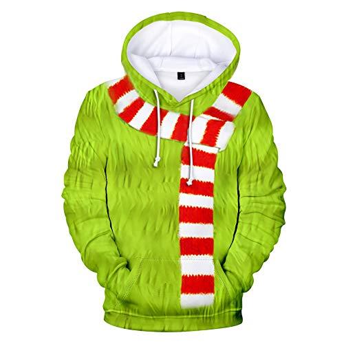 Zaima Weihnachten 3D Gedruckt Hooded Pocket Pullover Sweatshirt MäNner Frauen Hoodie Digital Outerwear