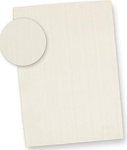Echt Büttenpapier A4 wildgerippt (25 Blatt) dickes 115 g/qm Bütten Briefpapier ca. A4 mit Büttenrand und wellenartiger Rippung chamois Zerkall