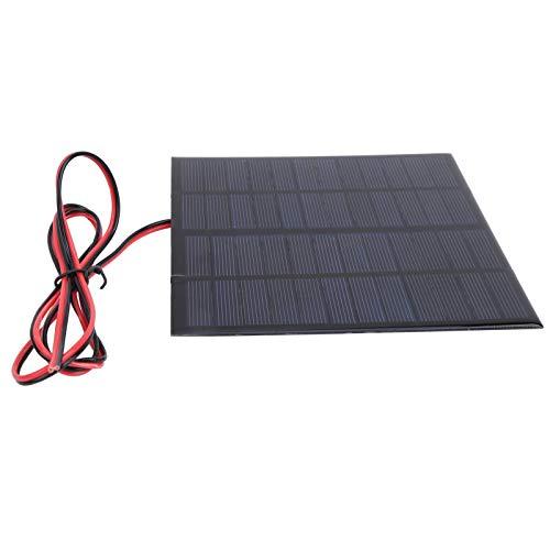 Mini células de panel solar, panel solar pequeño de 12 V y 3 W, panel de cargador solar, a prueba...