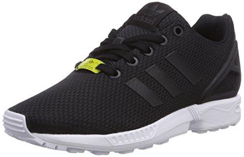 adidas Zx Flux J, Scarpe da Ginnastica Basse Unisex-Bambini, Nero (Black/Black/Footwear White 0), 36 2/3 EU
