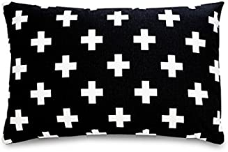 product image for Olli & Lime Small Cross Pillow in Black and White