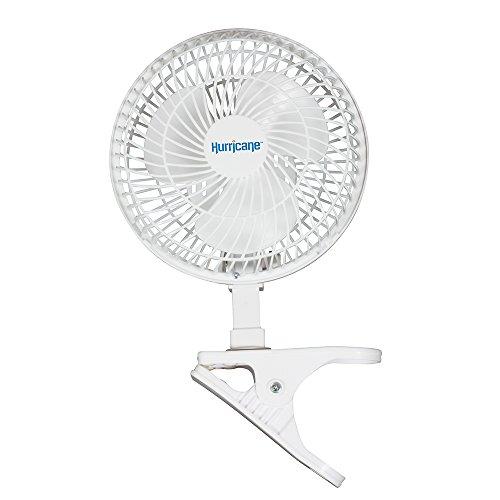 "Hurricane HGC736520 Classic Series Clip Fan, 6"", 6"", White"