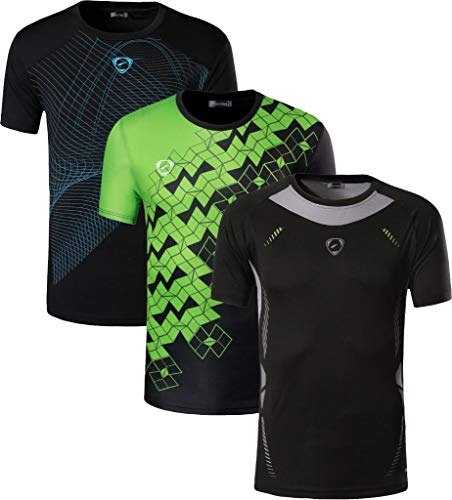 jeansian Jungen Active Sportswear 3 MixPacks Quick Dry Short Sleeve Breathable T-Shirt Tee Tops LBS703 MixPackA M