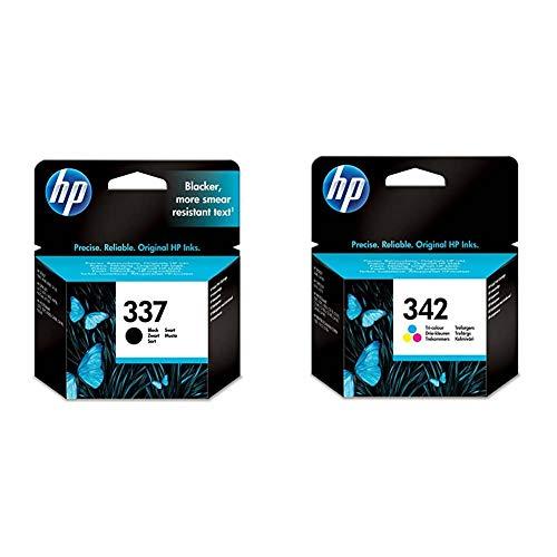 HP 337 C9364EE, Negro, Cartucho de Tinta Original, de 420 páginas + 342 C9361EE, Tricolor, Cartucho de Tinta Original