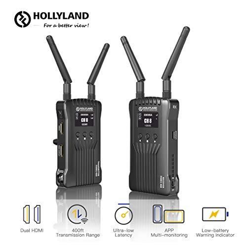 Hollyland Mars 400, HDMI Video Transmitter Empfänger Set, Drahtlose Bildübertragung Wireless Image Transmission, 1080P HD Eingang/Ausgang 122m Arbeitsabstand 60Hz für DSLR Kamera Field Monitor