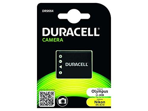 Duracell DR9664 Batteria per Nikon EN-EL10, Olympus Li-40B, 3.7 V, 700 mAh, Nero
