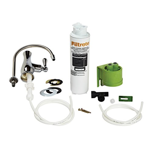 Filtrete High Performance Drinking Water Filtration System, Single Stage PLUS, Maximum Filtration