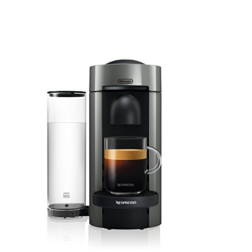 Nespresso ENV150GY VertuoPlus Coffee and Espresso Machine by De'Longhi, Graphite Metal
