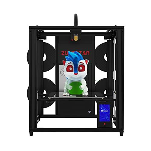 Jabey Z9V5 PRO Stampante 3D aggiornata con Design a Quattro estrusori Regolabile Stampa a Colori Misti Livellamento Automatico Riprendi Funzione di Stampa Dimensioni di Stampa 300x300x400mm