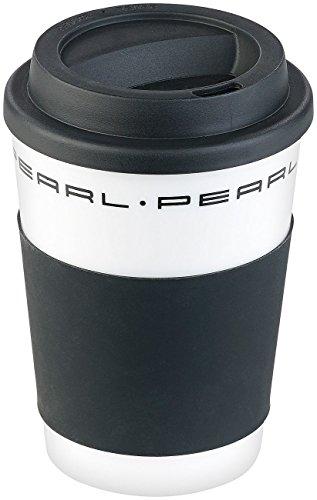 PEARL Kaffeetasse mit Deckel: Coffee-to-go-Becher mit Deckel, 350 ml, doppelwandig, BPA-frei (Coffee to Go Becher Kunststoff)