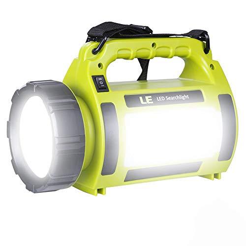LED ランタン 懐中電灯 サーチライト CREE社製高輝度チップ搭載 超高輝度1000ルーメン USB充電式 一台三役 モバイルバッテリー機能 5つ点灯モード 調光対応 防滴 キャンプ 登山 釣り 防災 停電 緊急 非常用